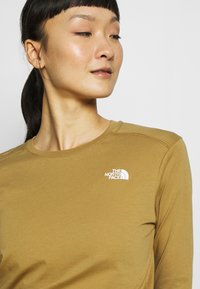 The North Face - WOMENS SIMPLE DOME TEE - Topper langermet - british khaki - 4
