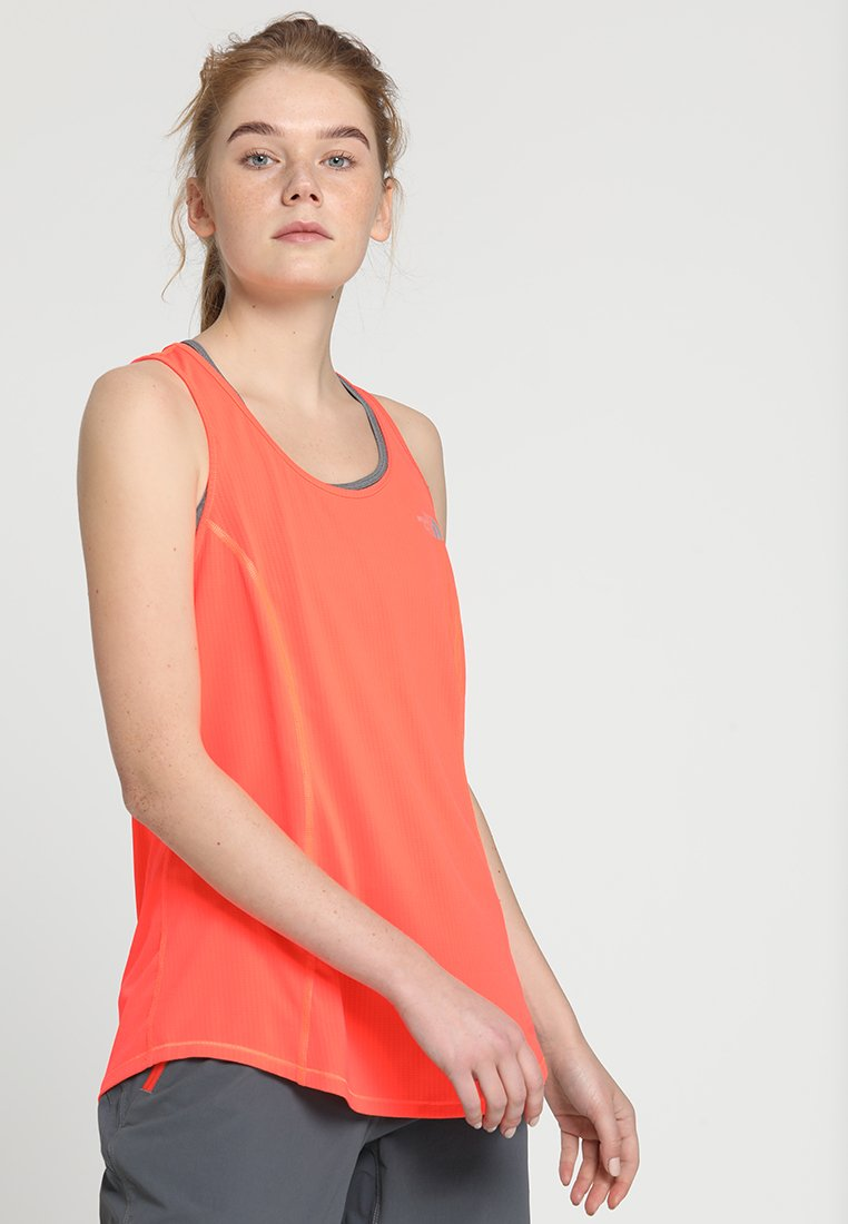 The North Face - TANK   - Funktionsshirt - fiery coral