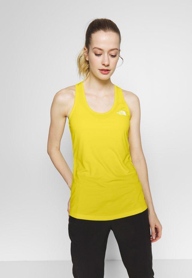 WOMENS FLEX TANK - Camiseta de deporte - lemon