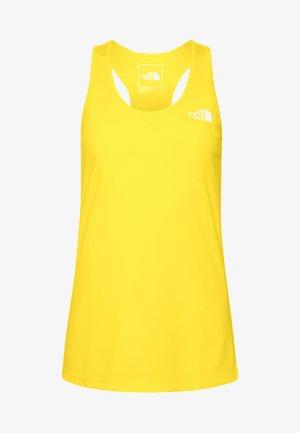 WOMENS FLEX TANK - Sports shirt - lemon
