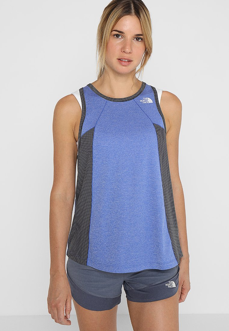 The North Face - AMBITION TANK   - Funktionsshirt - dazzling blue heather