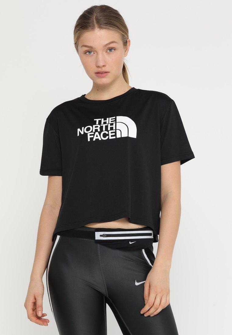 The North Face - TRAIN LOGO CROP - T-Shirt print - black