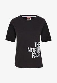 The North Face - W LIGHT S/S TEE - Print T-shirt - black - 3