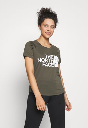 GRAP PLAY HARD - T-shirt z nadrukiem - new taupe green