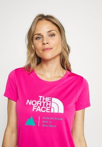 The North Face - GLACIER TEE - Print T-shirt - pink