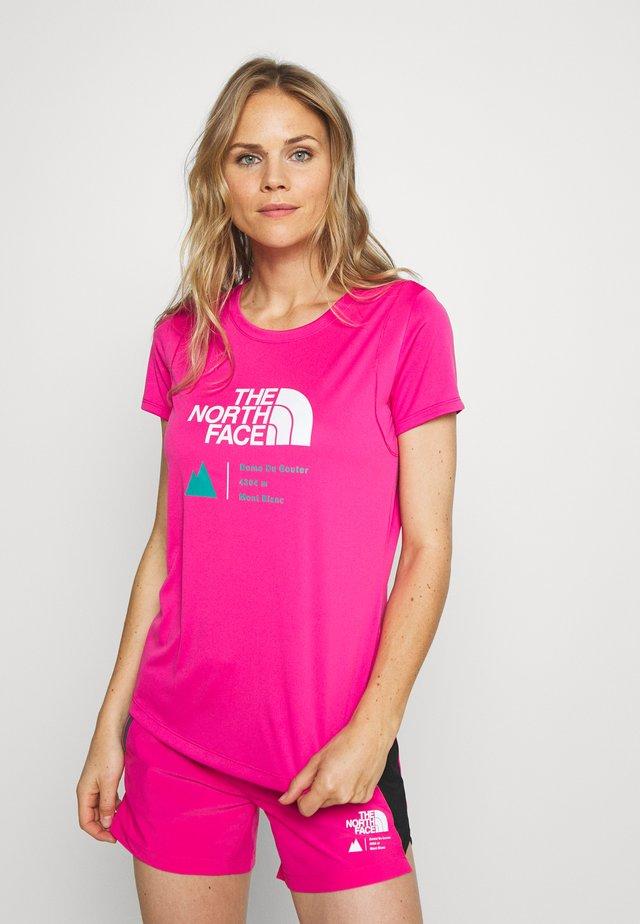 GLACIER TEE - T-shirt z nadrukiem - pink