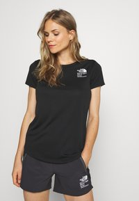 The North Face - GLACIER TEE - T-shirt print - black - 2