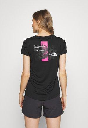 GLACIER TEE - T-shirt z nadrukiem - black