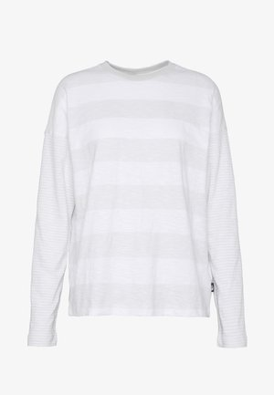 WOMENS STRIPE - Long sleeved top - tin grey/boulder