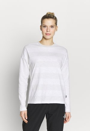 WOMENS STRIPE - Long sleeved top - tin grey/boulder