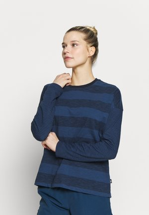 WOMENS STRIPE - Topper langermet - urban navy
