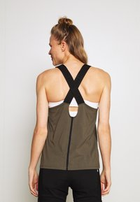 The North Face - WOMENS NORTH DOME TANK - Topper - new taupe green/black - 2