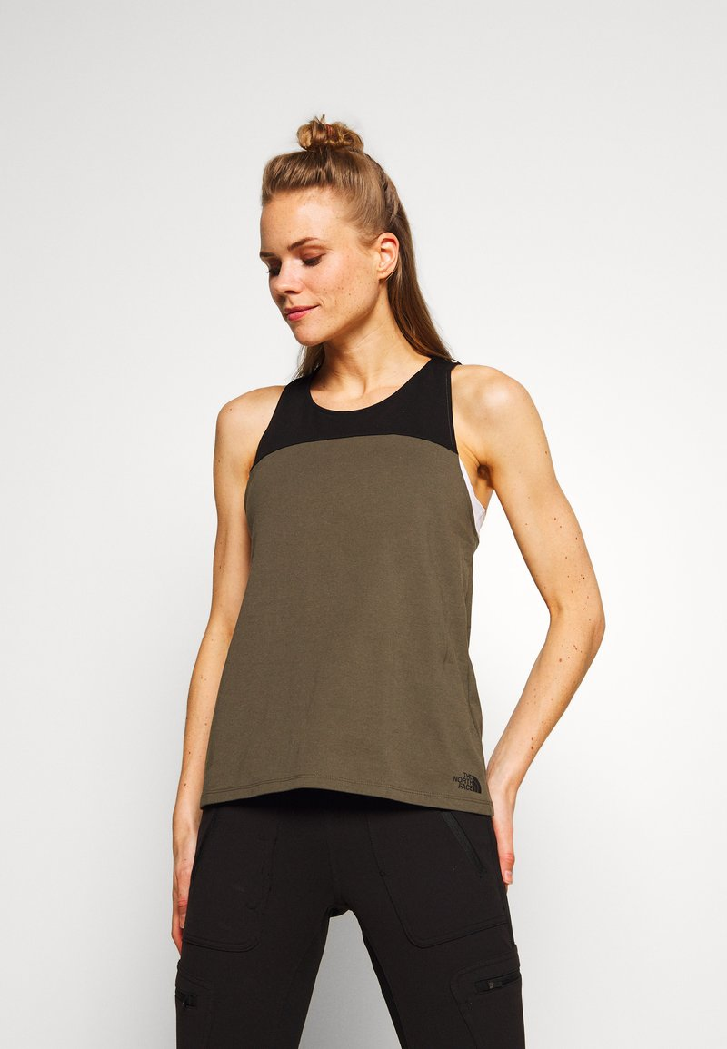 The North Face - WOMENS NORTH DOME TANK - Topper - new taupe green/black