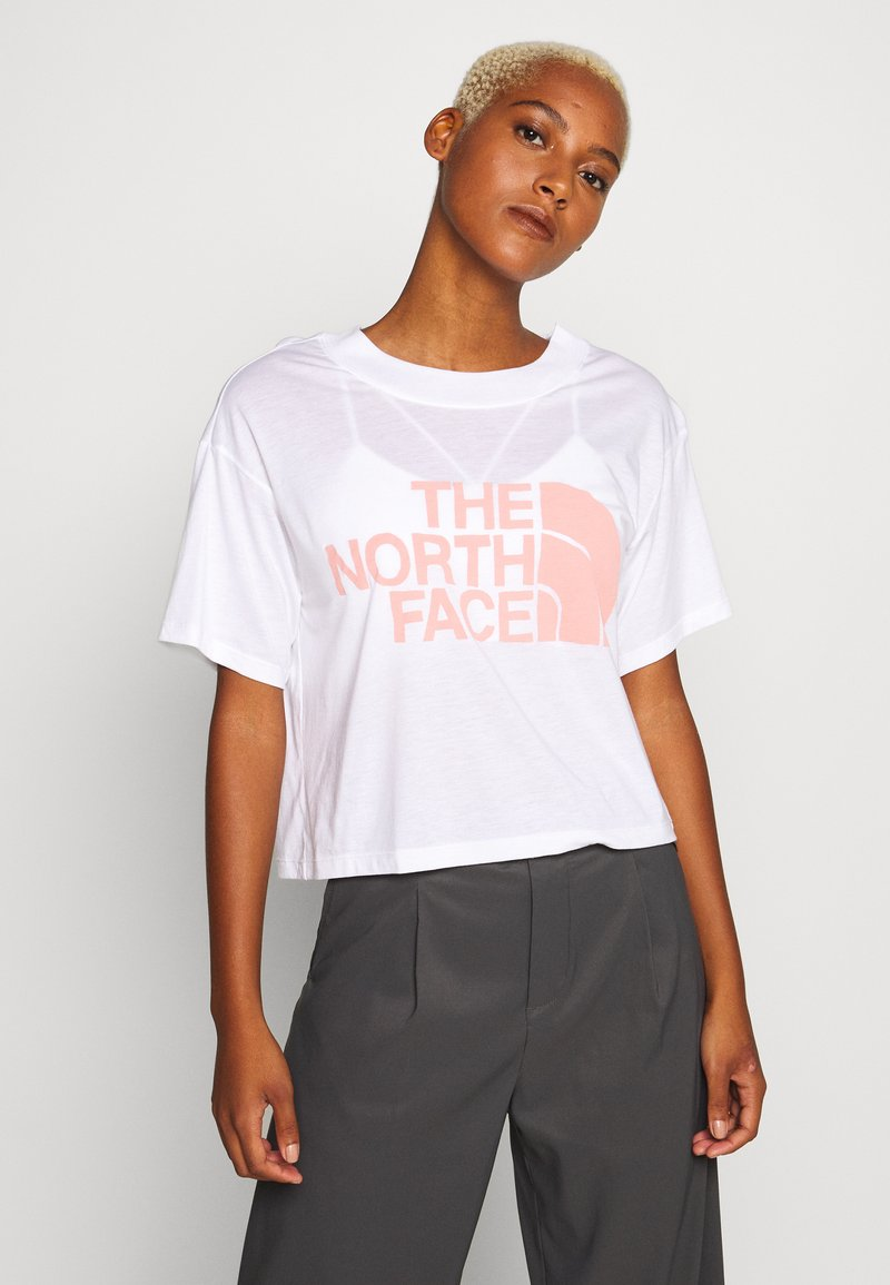 The North Face - WOMENS HALF DOME CROPPED TEE - Printtipaita - white