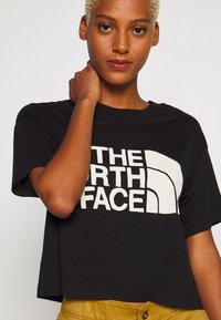 The North Face - WOMENS HALF DOME CROPPED TEE - Print T-shirt - black - 4