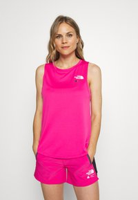 The North Face - WOMENS GLACIER TANK - Sports shirt - mr pink - 3