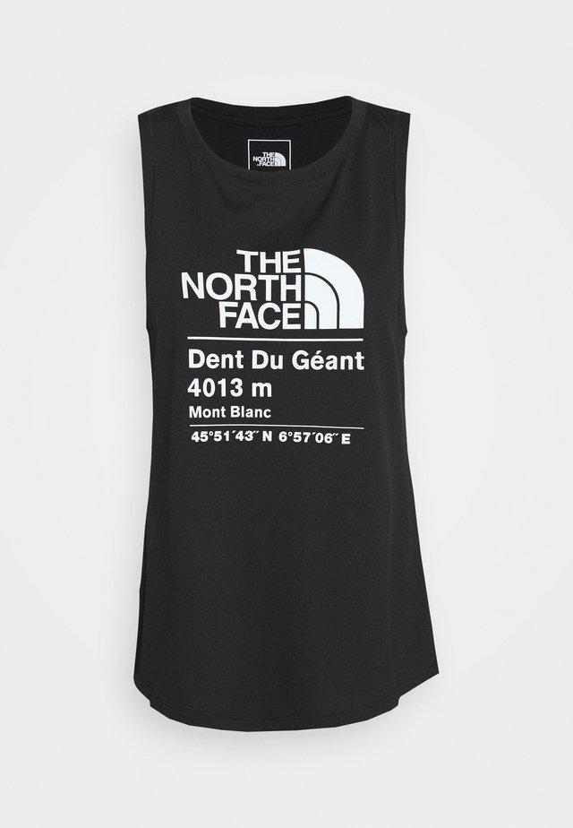 GLACIER TANK - Camiseta de deporte - black