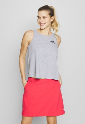 TANK - Topper - light grey heather