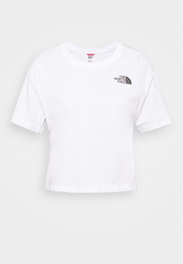 CROPPED SIMPLE DOME TEE - T-shirt basic - white