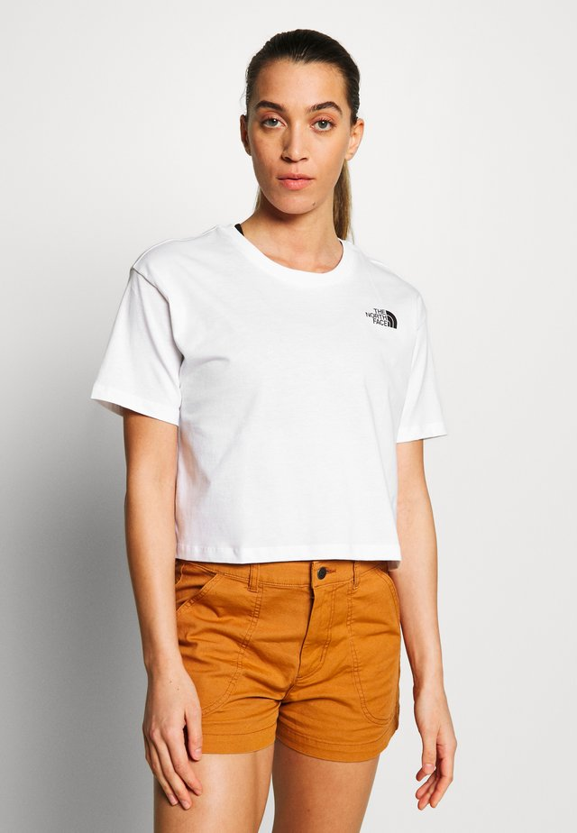 CROPPED SIMPLE DOME TEE - T-shirt basic -  white multi