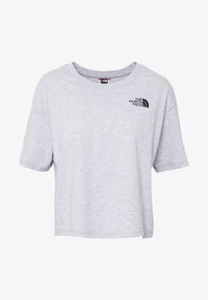 CROPPED SIMPLE DOME TEE - T-Shirt print - light grey heather