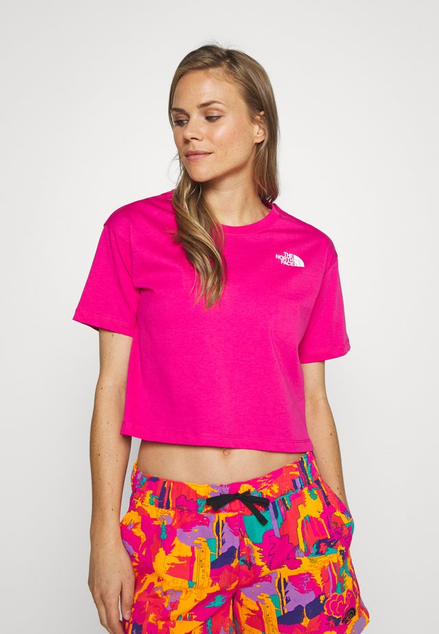 CROPPED SIMPLE DOME TEE - Triko s potiskem - pink