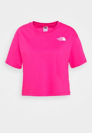 CROPPED SIMPLE DOME TEE - Printtipaita - pink