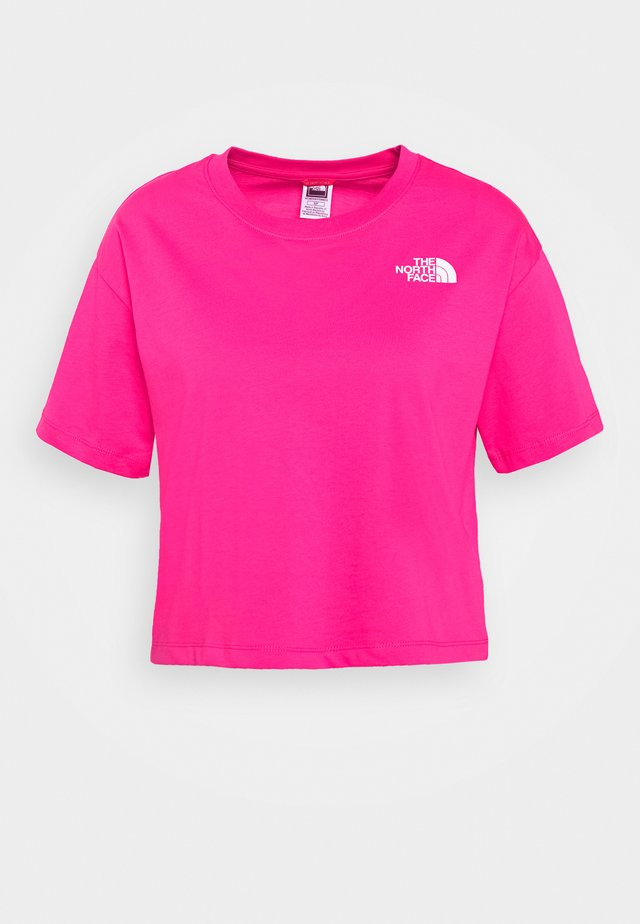 CROPPED SIMPLE DOME TEE - Camiseta estampada - pink