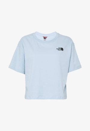 CROPPED SIMPLE DOME TEE - T-shirt basic - blue