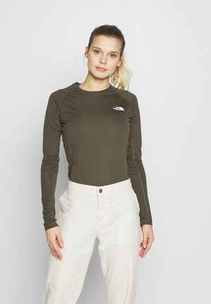WOMENS FLEX - Sports shirt - new taupe green