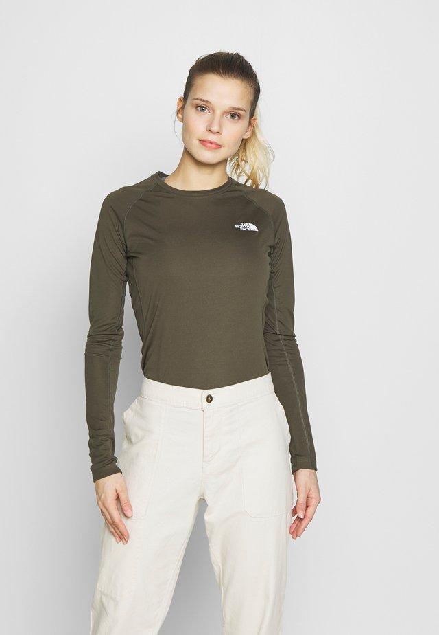 WOMENS FLEX - Koszulka sportowa - new taupe green