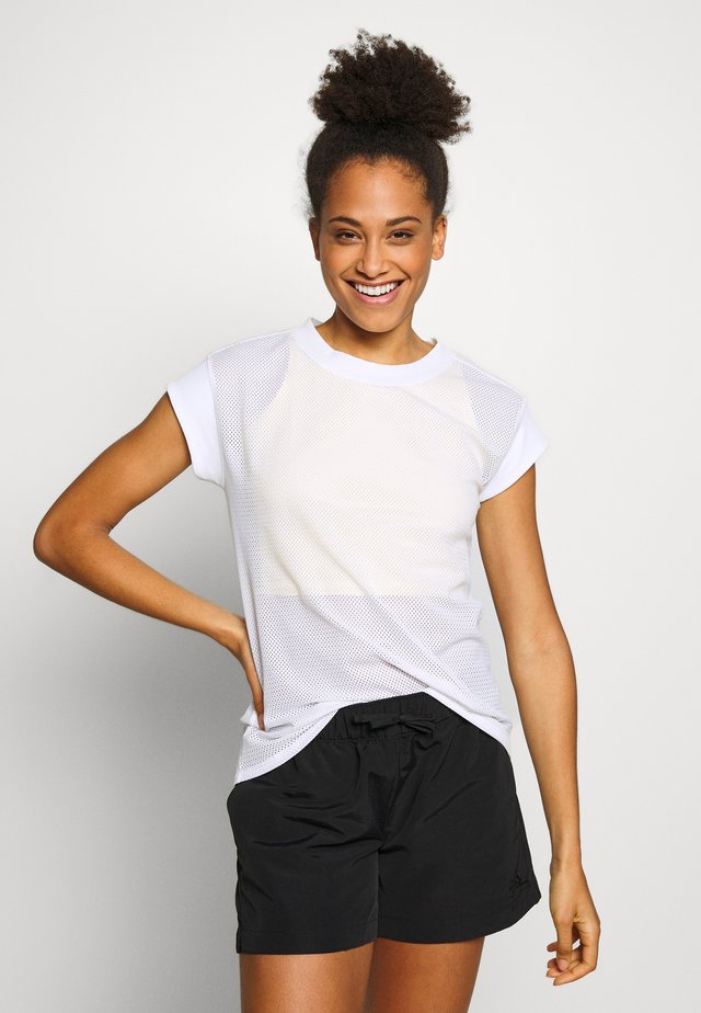 WOMENS ACTIVE TRAIL - Camiseta estampada - white