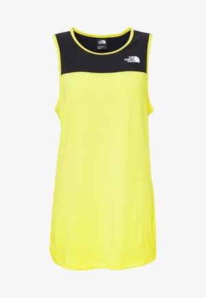 WOMENS ACTIVE TRAIL TANK - Treningsskjorter - lemon