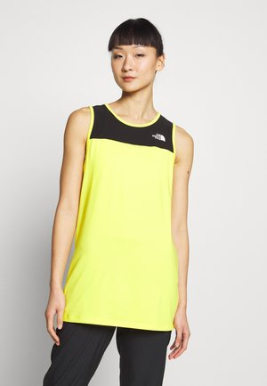 WOMENS ACTIVE TRAIL TANK - Treningsskjorter - lemon