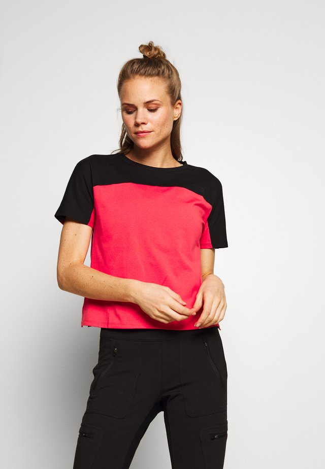 WOMEN'S NORTH DOME - Camiseta estampada - cayenne red/black