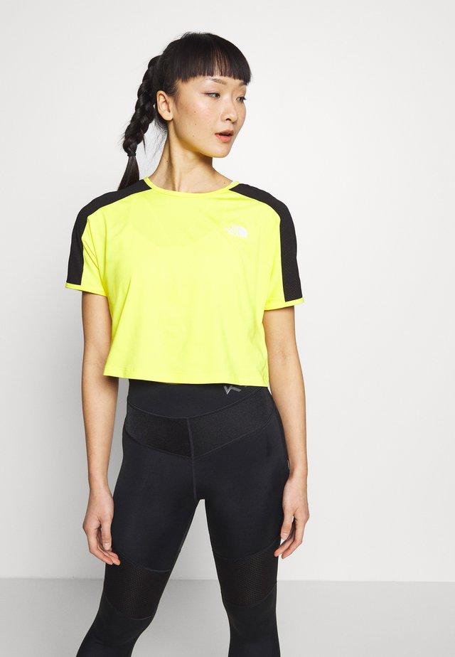 WOMENS ACTIVE TRAIL - Print T-shirt - lemon