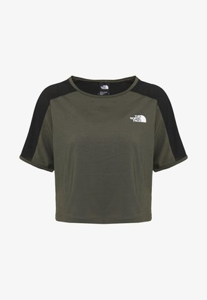 WOMENS ACTIVE TRAIL - T-shirts med print - new taupe green