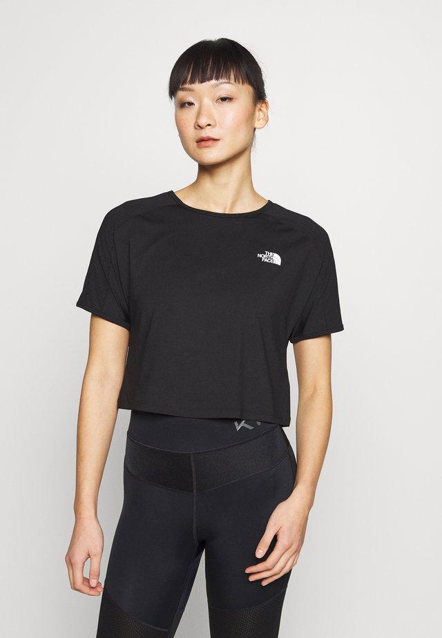 WOMENS ACTIVE TRAIL - T-Shirt print - black