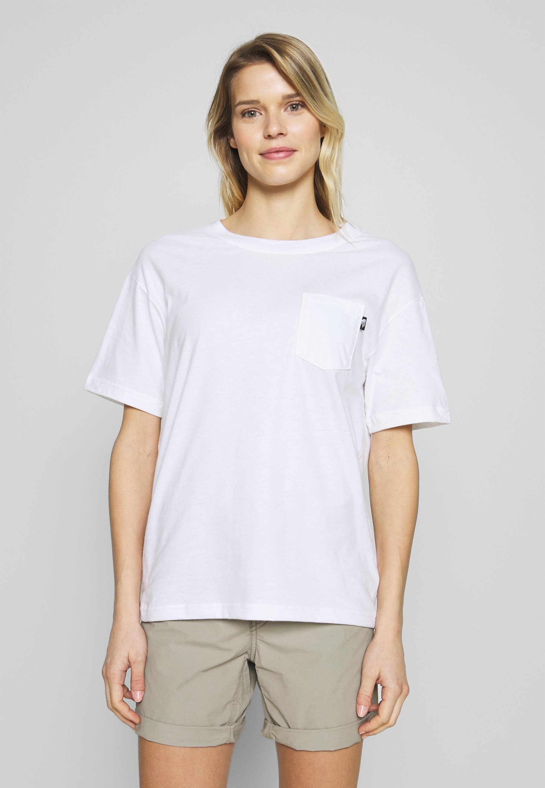 The North Face WOMENS RELAXED POCKET TEE - T-shirt basique - white
