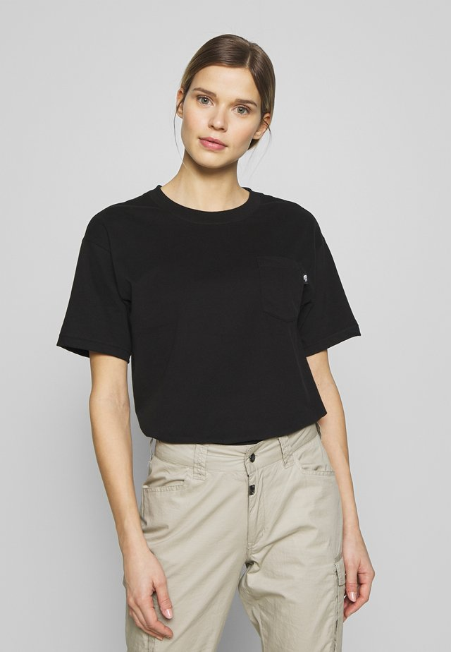 WOMENS RELAXED POCKET TEE - T-shirt basic - black