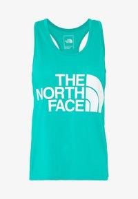 The North Face - WOMENS GRAPHIC PLAY HARD TANK - Treningsskjorter - jaiden green - 4