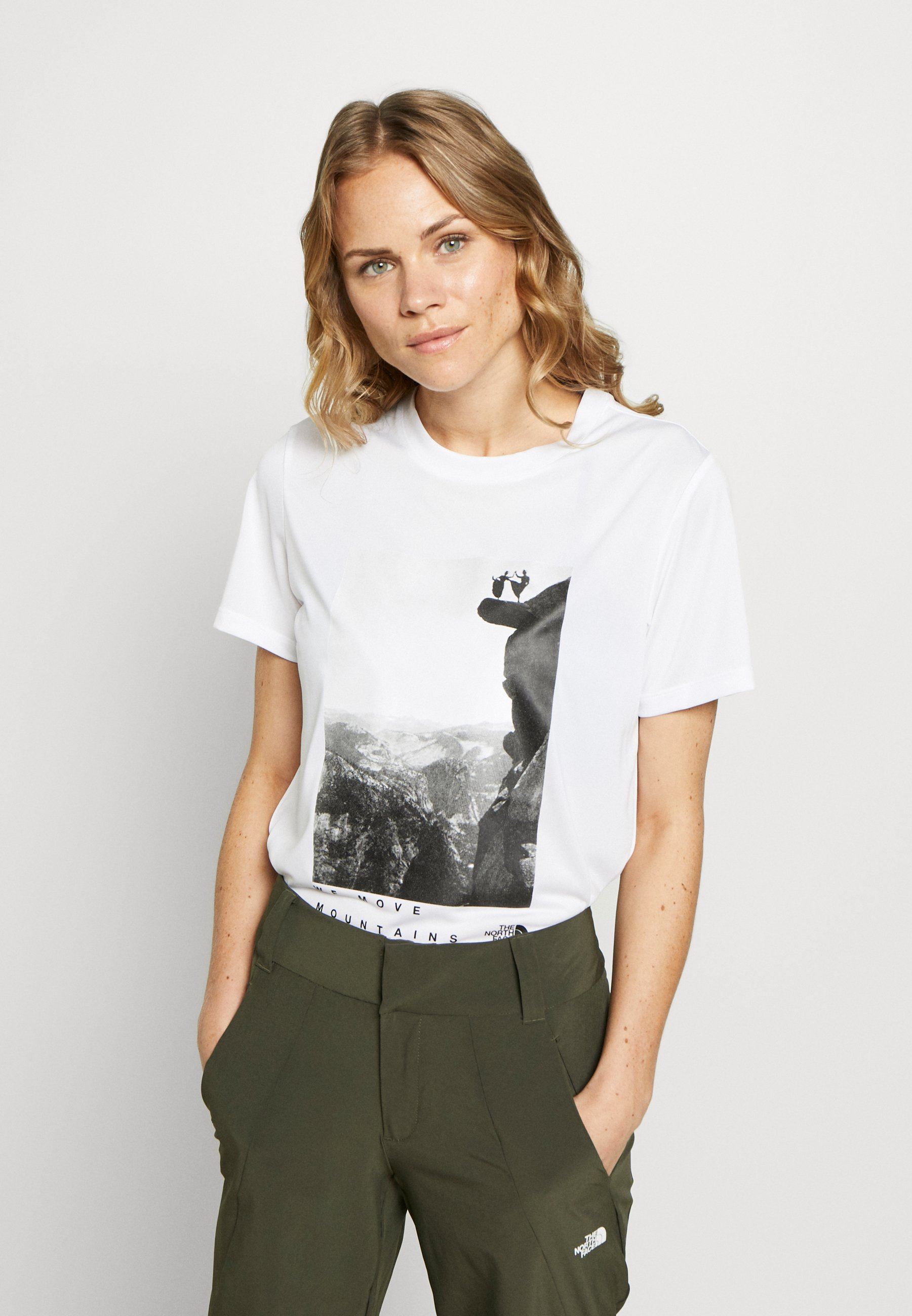 The North Face WOMAN DAY TEE - T-shirts med print - white