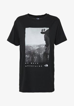 WOMAN DAY TEE - T-shirt imprimé - black
