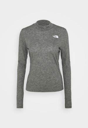 W ACTIVE TRAIL WOOL L/S - Sportshirt - black heather