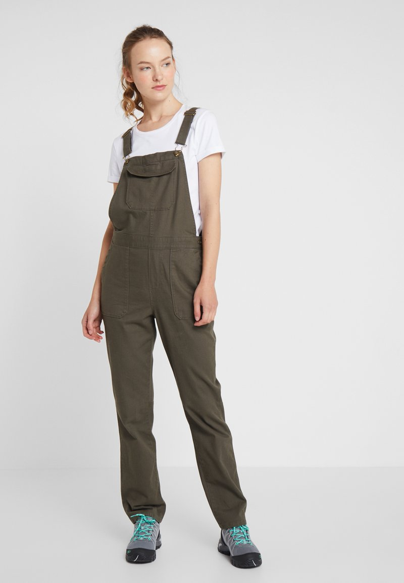 The North Face - MOESER OVERALL - Trousers - new taupe green