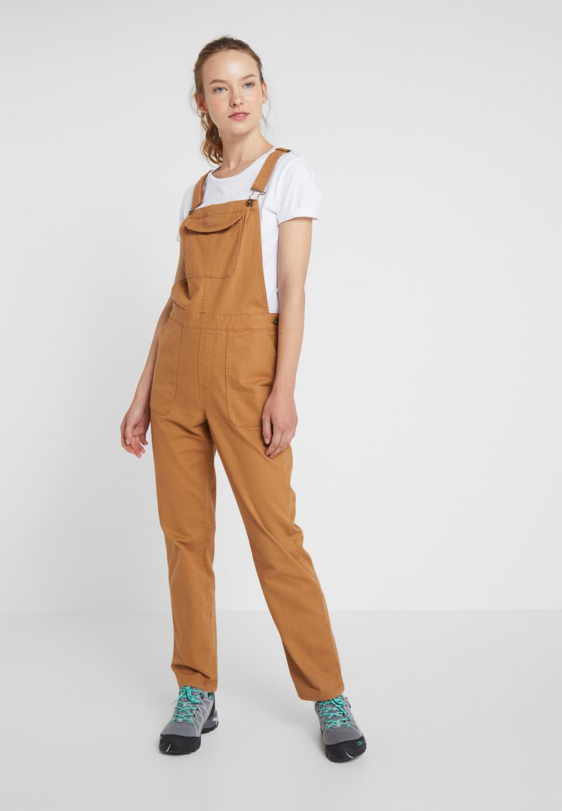 The North Face - MOESER OVERALL - Spodnie materiałowe - chipmunk brown