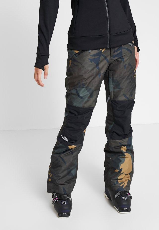 ABOUTADAY PANT - Pantalón de nieve - new taupe green/black
