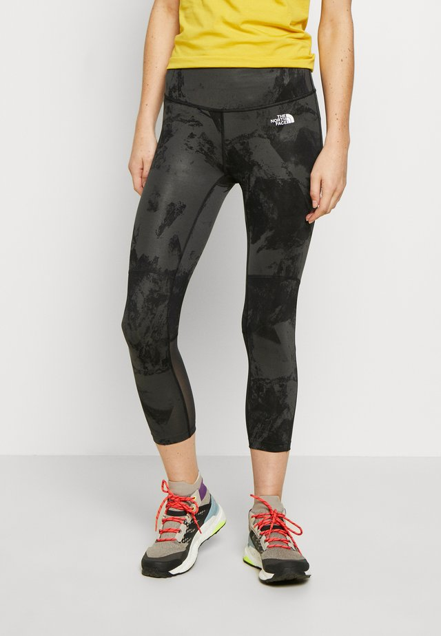 WOMENS VARUNA CROP - Legginsy - asphlt grey