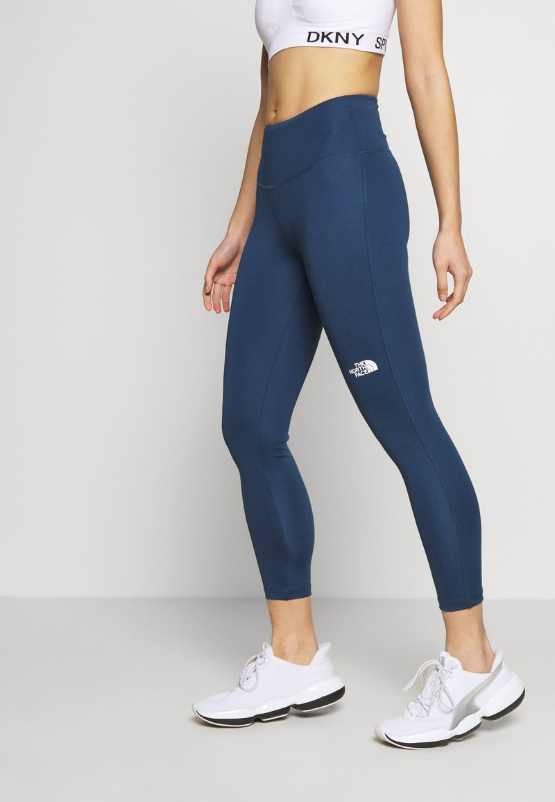 The North Face - WOMENS NEW FLEX HIGH RISE 7/8 - Tights - blue wing teal