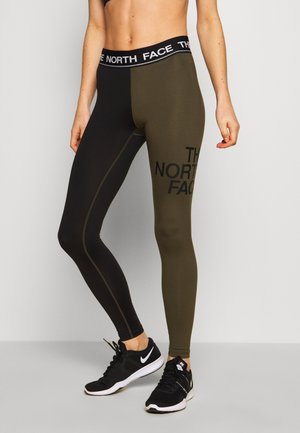 WOMENS FLEX MID RISE - Legging - black/new taupe green